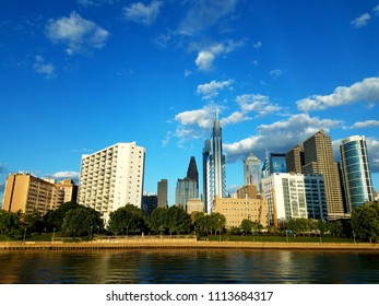 Philadelphia, Pennsylvania, U.S.A - June 15, 2018 - The view of the city during the day