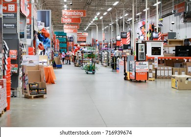 Philadelphia, Pennsylvania, USA, September 16, 2017: The Home Depot