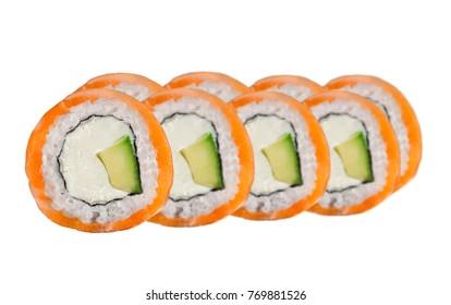 Philadelphia roll with avocado