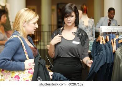 PHILADELPHIA - SEPTEMBER 1:  Guest looks at dress at Banana Republic runway show during Philadelphia fashion week on September 1, 2010 in Philadelphia, Pennsylvania.