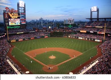 PHILADELPHIA - SEPTEMBER 7: Citizens Bank Park is the home of the National League's Phillies, on September 7, 2010 in Philadelphia. This baseball only stadium opened in 2004, replacing Veterans Stadium.