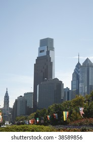 Philadelphia Skyline from Ben Franklin Parkway