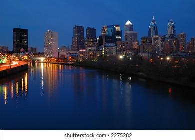 Philadelphia Skyline Nightscape