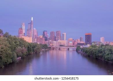 Philadelphia Skyline at Twilight