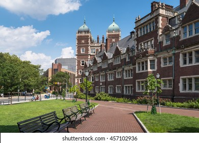 Philadelphia, United States - July 23, 2016: A weekend scene at the University of Pennsylvania campus