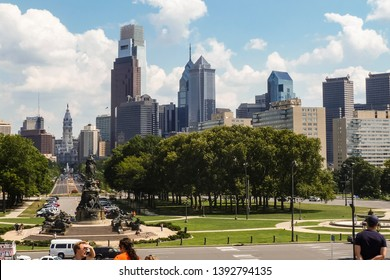 Philadelphia, USA - 08-04-2011: Philadelphia skyline