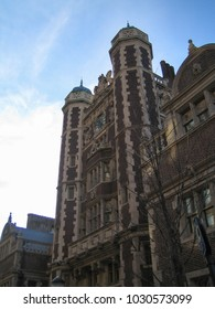 Philadelphia, USA - Dec 23 2005: The historic building in the campus of University of Pennsylvania, which is a top notch business school in the world.