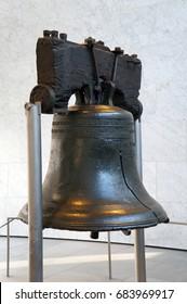 Philadelphia, USA - February 8, 2016: Original Liberty Bell in Philadelphia on February 8, 2016.