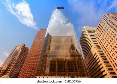 PHILADELPHIA, USA - JUNE 11, 2013: Comcast Center building on June 11, 2013 in Philadelphia. As of 2012 the 297m tall skyscraper is the tallest building in Philadelphia and 15th tallest in the US.