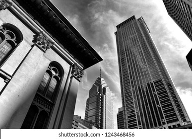 Philadelphia, USA - May 29, 2018:  Philadelphia cityscape. Downtown of Philadelphia, PA, USA