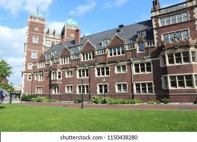 Philadelphia USA - Pennsylvania State University (Penn State). Quadrangle architecture.