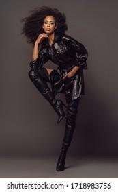 Philadelphia,PA, United States - January 25th 2020. High Fashion stylish fashionable model editorial photograph.