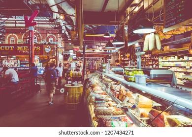 PHILADEPHIA, USA - SEPTEMBER 19, 2018: Terminal Market in Philadelphia, USA.