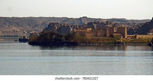 Philae Temple on island at Aswan Egypt. November 2015