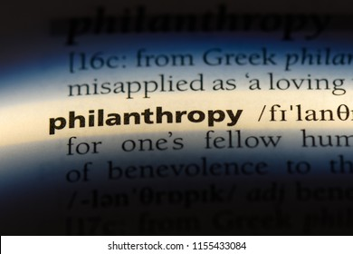 philanthropy word in a dictionary. philanthropy concept.