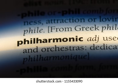 philharmonic word in a dictionary. philharmonic concept.