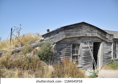 Philip, South Dakota. U.S.A. September 16, 2018. Prairie Homestead.  Edgar I. Brown, his wife Alice and son Charles built this sod house in 1909 as a Homestead on 160-acres.  It was used until 1947