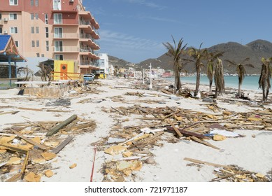 Philipbsburg St.Maarten, Hurricane Irma category 5 causes damage to the island of st.maarten