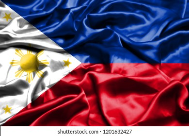 Philipines flag waving in the wind