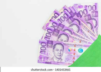 Philippine 100 peso bill, Philippines money currency, Philippine money bills background.