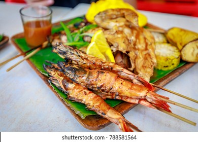 Philippine barbecue food on the table