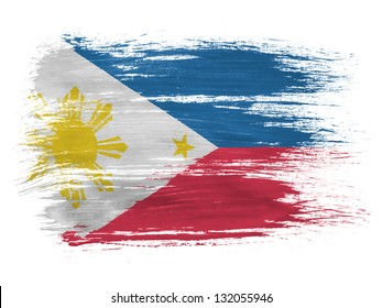 Philippine flag  on white background