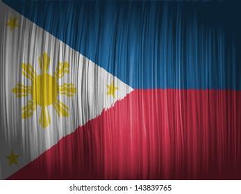 Philippine flag  wavy curtain
