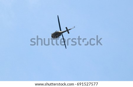 Philippine Military Airforce Bell UH 1 Helicopter Stock Photo (Edit