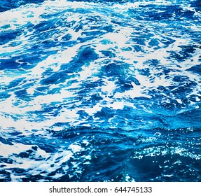in philippines abstract blur background of the pacific ocean glitter  light