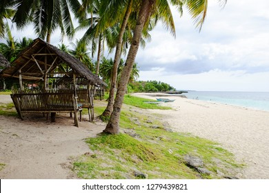 Philippines Beach with bamboo hut