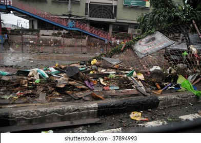 PHILIPPINES – CIRCA SEPT 2009:Typhoon Ondoy unearths lots of the metro's waste Sept 2009 in the Philippines. Typhoon Ondoy left hundreds of thousand families displaced and killed hundreds of people.