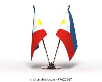 Philippines Flag, Philippines, Community, Symbol, Small, Flag, Traditional Culture, National Flag, Patriotism, Isolated On White, Clipping Path, Pole, Global Business, Diplomacy