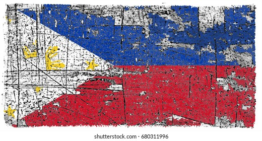 Philippines flag grunge background. Background for design in country flag