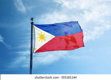 Philippines Flag on the mast