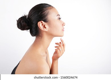 philippines girl model beauty face from side