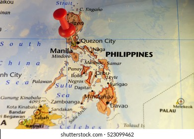 Philippines, island country in Asia. Copy space available.
