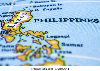 Philippines marker on map, asia countries.