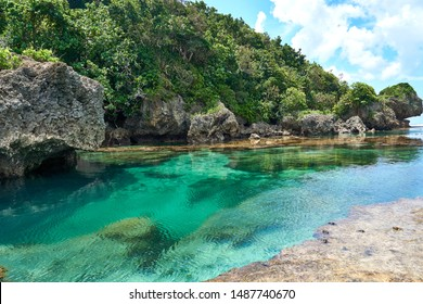Philippines, Siargao Island, 22.July.2019.: Tourists visit magpupungko natural rock pools in Siargao, Philippines.