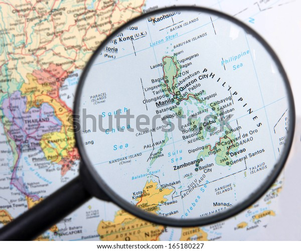Philippines under magnifier