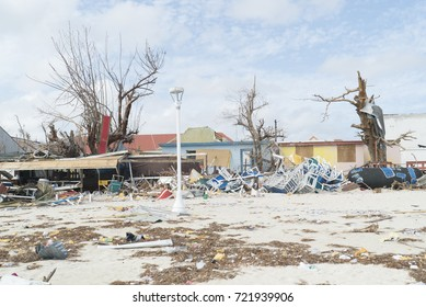 Philipsburg hurricane Irma made considerable damages to homes and beaches on the st.maarten