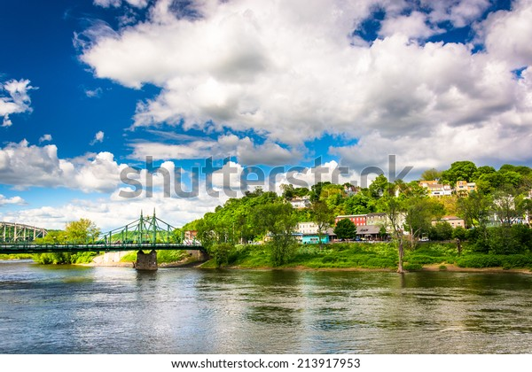 Phillipsburg, New Jersey, seen across the Delaware River from Easton, Pennsylvania.