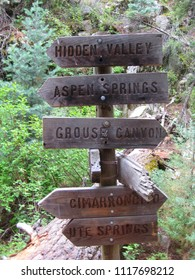 Philmont Trail Signs
