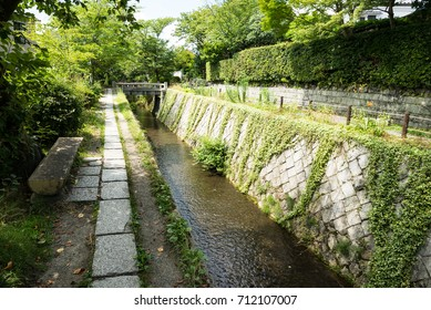 The Philosopher's walk(Tetsugaku-no-michi). It is a pedestrian path that follows a cherry-tree-lined canal in Kyoto.
