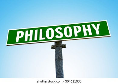 PHILOSOPHY word on green road sign