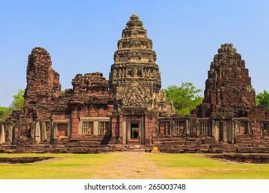 Phimai Historical park in Nakhon Ratchasima, Thailand.