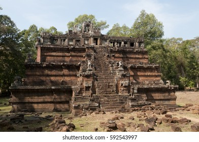 Phimeanakas Temple at Angkor Thom in Siem Reap, Cambodia