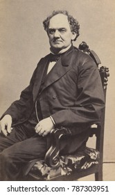 Phineas Taylor Barnum, American showman, 1860-64, in Charles D. Fredricks & Co. photo. The early 1860s were a time of great success for Barnum and his AMERICAN MUSEUM, offering family amusement to the