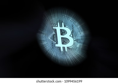 phisical bitcoin with postproduction effect