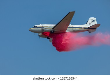 Phitsanulok Province/Thailand - January 12, 2019 :Thai Royal Air-Force open base military airport in children day and fly BT-67 for show mission wildfire by chemical and water