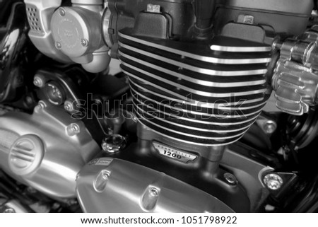 Phitsanulok Thailand 03172018 Closeup Triumph Motorcycle Stock Photo